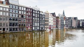 Traditional houses of Amsterdam. Royalty Free Stock Image