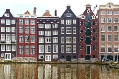 Traditional houses of Amsterdam. Royalty Free Stock Photo