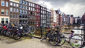 Traditional houses of Amsterdam, Holland. Royalty Free Stock Photography