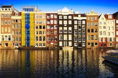 Traditional houses of Amsterdam, Netherlands Royalty Free Stock Photo