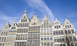 Traditional houses in Antwerp, Belgium Stock Images