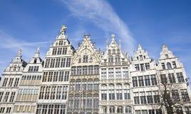 Traditional houses in Antwerp, Belgium Stock Images