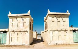 Traditional houses at Arad Fort on Muharraq Island, Bahrain. Traditional houses at Arad Fort on Muharraq Island, the Kingdom of Bahrain Stock Photo