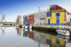 Traditional houses of Aveiro Royalty Free Stock Photo