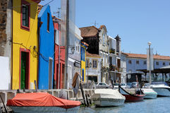 Traditional houses of Aveiro Royalty Free Stock Images