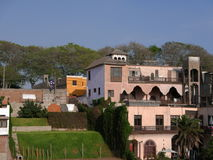 Traditional houses in Barranco district of Lima, Peru Royalty Free Stock Photography