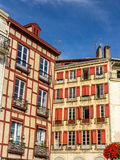 Traditional houses in Bayonne old town Stock Photos
