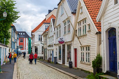 Traditional houses in Bergen, Norway Royalty Free Stock Images