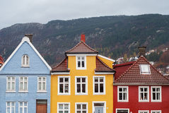 Traditional houses in Bergen, Norway Royalty Free Stock Photography