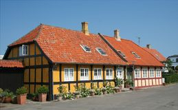 Traditional houses in Bornholm Royalty Free Stock Image