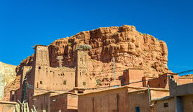 Traditional houses in Bou Tharar village. Morocco, the Valley of Roses Royalty Free Stock Photography