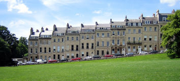 Traditional houses in the city of Bath. A panaramic view of traditional houses in Bath/England Stock Photography