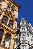 Traditional houses in the city of Vienna Royalty Free Stock Photo
