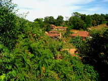 Traditional houses in Coorg Royalty Free Stock Images