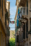 Traditional houses in Corfu island, Greece Royalty Free Stock Photo