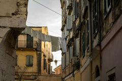 Traditional houses in Corfu island, Greece Royalty Free Stock Photography