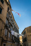 Traditional houses in Corfu island, Greece Royalty Free Stock Images