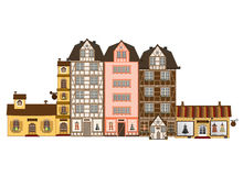 Traditional houses  in Europe Royalty Free Stock Photography