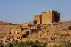 Traditional houses with fortifications , Morocco Stock Photo