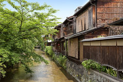 Traditional houses in Gion Royalty Free Stock Photography