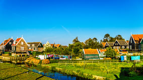 Traditional houses the historic village of Marken in the Netherlands Stock Photography