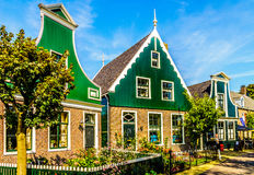 Traditional Houses in the Historic Village of Zaanse Schans Stock Photography