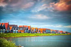 Traditional houses in Holland Stock Photos