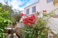 Traditional houses Hydra island Greece Royalty Free Stock Image
