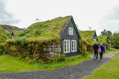 Traditional houses in Iceland Stock Photos