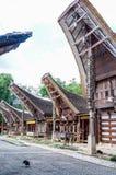 Traditional houses at Kete Kesu Village, Tana Toraja, Sulawesi royalty free stock photos