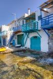 Traditional houses in Klima village, Milos island Stock Image