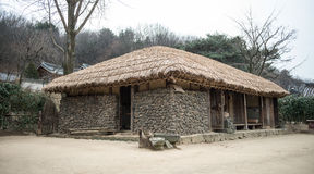 Traditional houses in Korea. Traditional houses in South Korea Jeju Island Stock Images