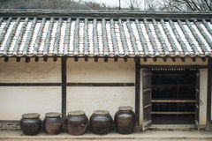 Traditional houses in Korea. Traditional houses in South Korea Yongin Stock Photo