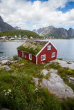 Traditional houses in Lofoten, Norway. Color image of some traditional houses in Reine, Lofoten Islands, Norway royalty free stock photography