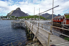 Traditional houses in Lofoten, Norway. Color image of some traditional houses in Reine, Lofoten Islands, Norway royalty free stock image