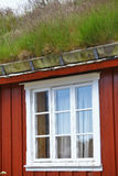 Traditional houses in Lofoten, Norway. Color image of some traditional houses in Reine, Lofoten Islands, Norway stock photos