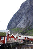Traditional houses in Lofoten, Norway. Color image of some traditional houses in Reine, Lofoten Islands, Norway Stock Image