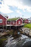 Traditional houses in Lofoten, Norway. Color image of some traditional houses in Reine, Lofoten Islands, Norway Stock Photography