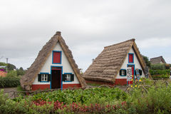 Traditional houses in Madeira, Portugal Royalty Free Stock Photography