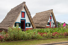 Traditional houses in Madeira, Portugal Royalty Free Stock Images