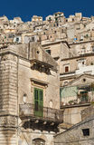 Traditional houses of modica in sicily italy Royalty Free Stock Photos