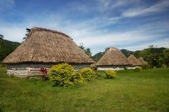 Traditional houses of Navala village, Viti Levu, Fiji Royalty Free Stock Photos