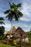 Traditional houses of Navala village, Viti Levu, Fiji Stock Image