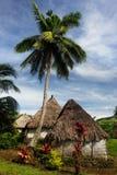 Traditional houses of Navala village, Viti Levu, Fiji Stock Image