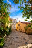 Traditional houses and old buildings at the village of Archanes, Heraklion, Crete. Stock Image