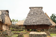 Traditional houses in open-air museum in Wologai Royalty Free Stock Photos