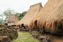 Traditional houses in open-air museum in Wologai Royalty Free Stock Image
