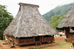 Traditional houses in open-air museum in Wologai Stock Photography