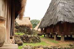 Traditional houses in open-air museum in Wologai Royalty Free Stock Images