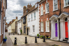 Traditional Houses in Poole, Uk. Houses on a pedestrian street in Poole, England, UK Royalty Free Stock Photos